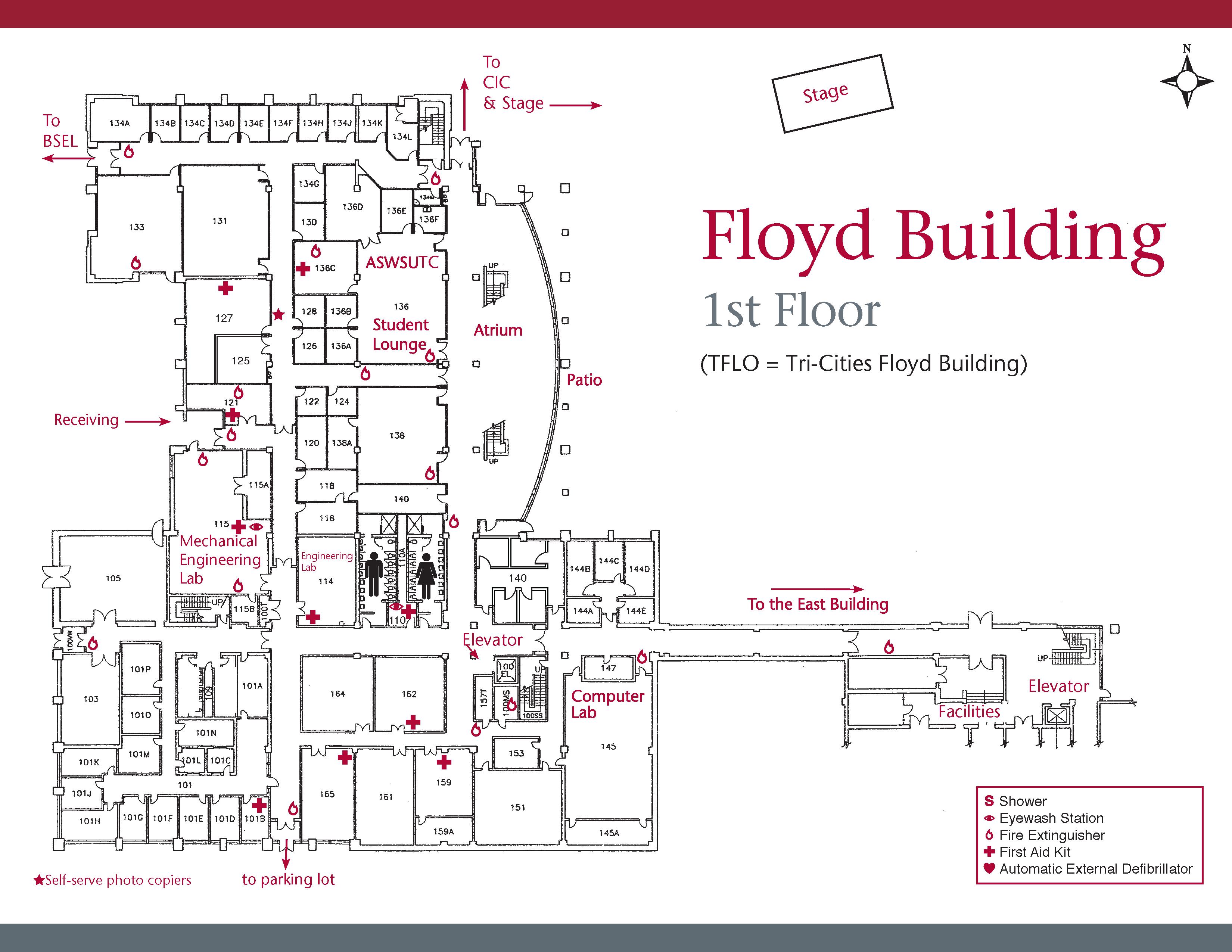 Floyd Building campus map 1st floor
