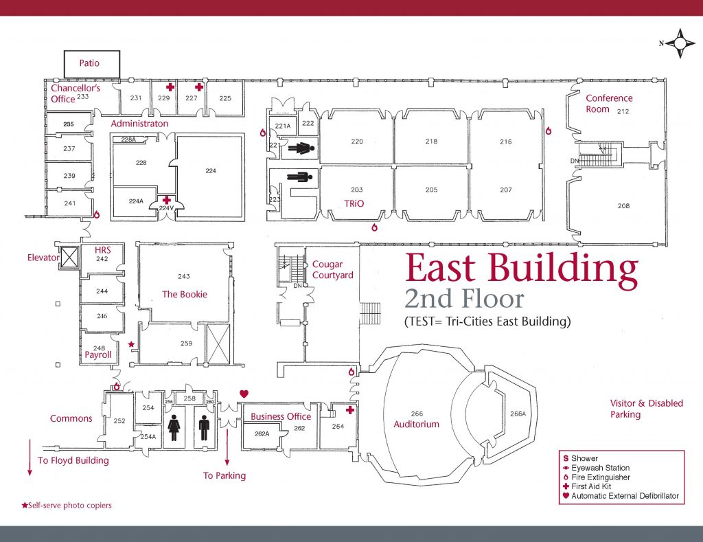 east building map