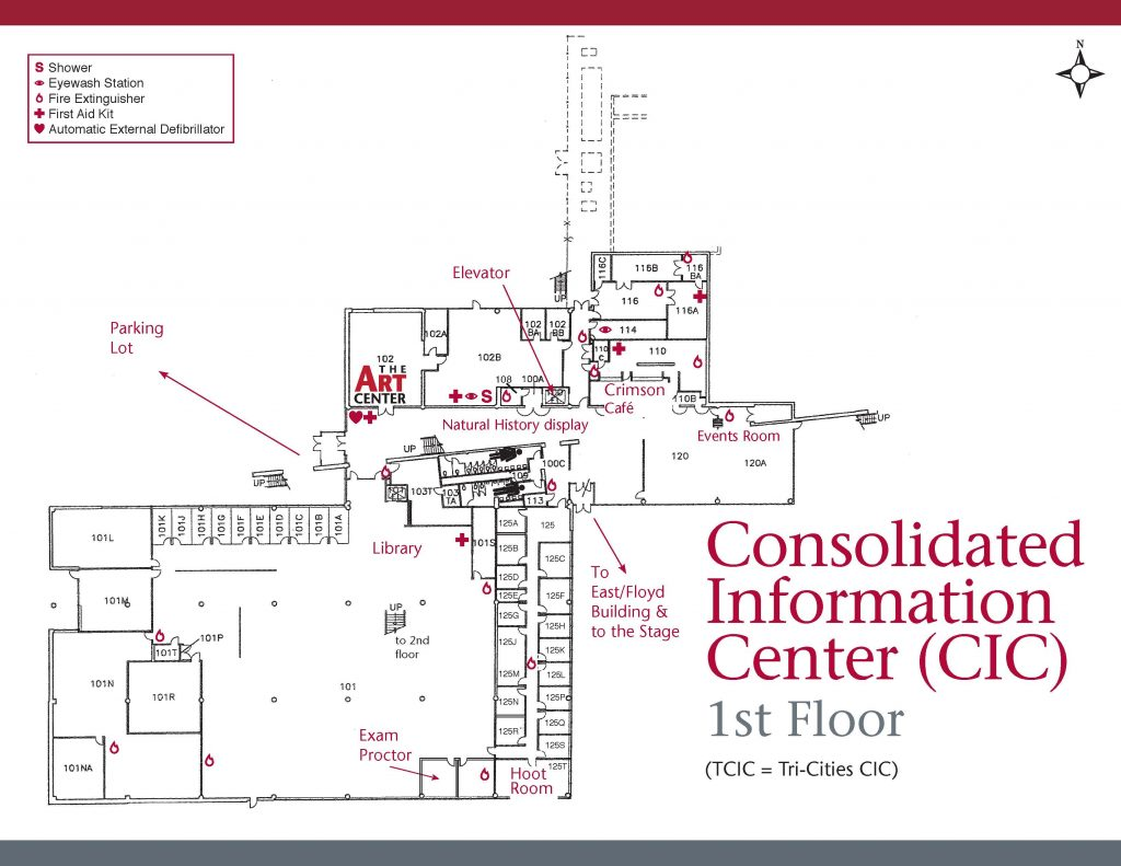 CIC first floor map