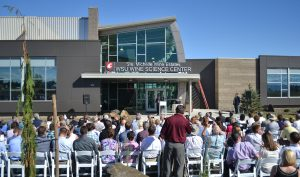 Community members attend the grand opening of the Ste. Michelle Wine Estates WSU Wine Science Center in 2015