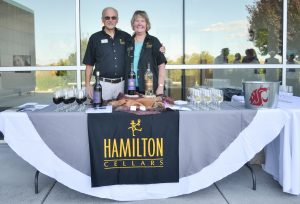 Hamilton Cellars owners at WSU Tri-Cities Wine and Jazz event