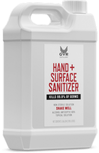 Industrial-sized bottles of the sanitizer donated to the WSU Tri-Cities campus