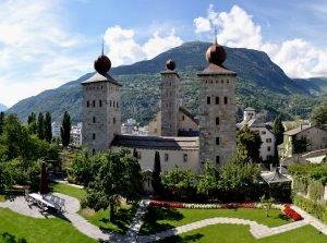 Stockalper Palace in Brig, Switzerland
