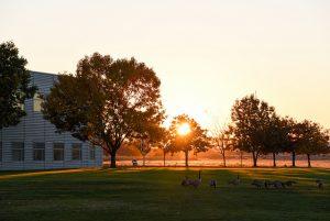 WSU Tri-Cities campus at sunset