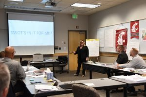 Participants in a leadership course at WSU Tri-Cities