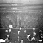Front Face of B-Reactor with Men Working