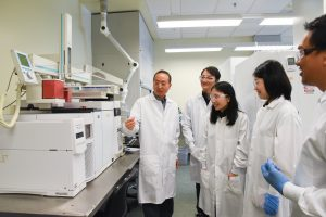 Hanwu Lei, associate professor in WSU's Department of Biological System Engineering, and research team