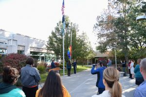 Raising of the Pride Flag at WSU Tri-Cities