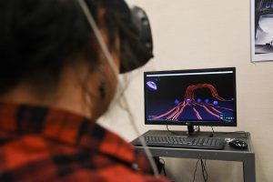 Student experiments with sculpting in virtual reality