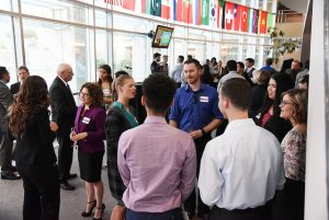 Networking in Floyd Atrium