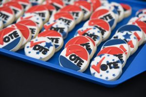 Vote-themed cookies
