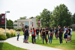 WSU Tri-Cities students partake in an orientation activity this fall