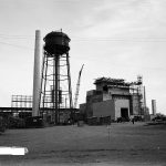 construction of 105-F reactor building