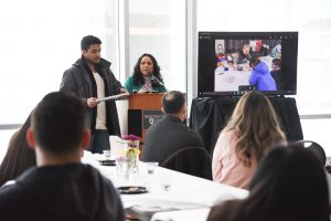 A TRIO student presents as part of National TRIO Day at WSU Tri-Cities