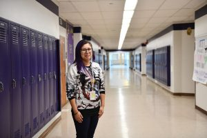 WSU Tri-Cities alumna Esfeidy Guzman now teaches at Pasco High School where she works with students that speak little to no English
