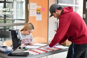 Members of the Associated Students of WSU Tri-Cities volunteered throughout the day to support the blood drive amid COVID-19