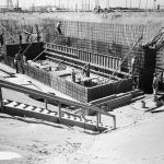 (1944) area building under construction - foundation