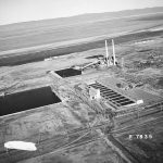 100-B reactor area - columbia river - aerial view