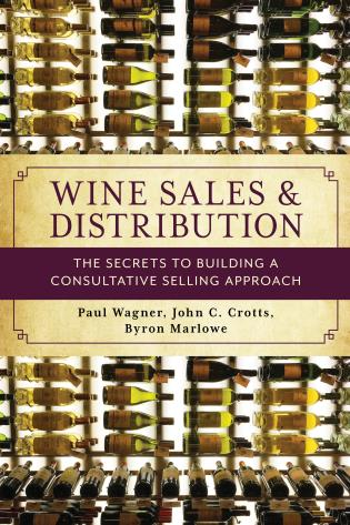 "Book cover for ""Wine Sales and Distribution: The Secrets to Building a Consultative Selling Approach"""