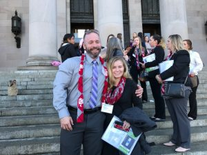 Adam Halvorsen with a peer at the 35th annual Nurse Legislative Day