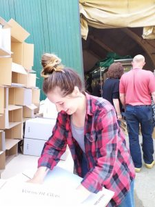 WSU Viticulture & Enology student, Bernadette Gagnier, working at Frysling Winery in the Netherlands.