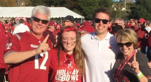 Brad Fisher and his family at a WSU football game-01