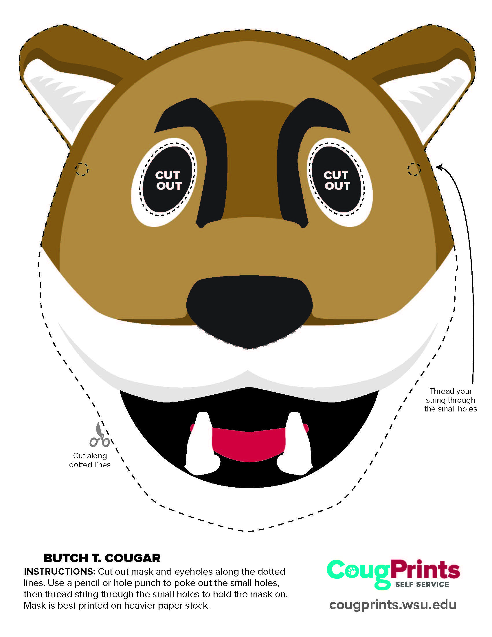 Butch T. Cougar Mask Activity