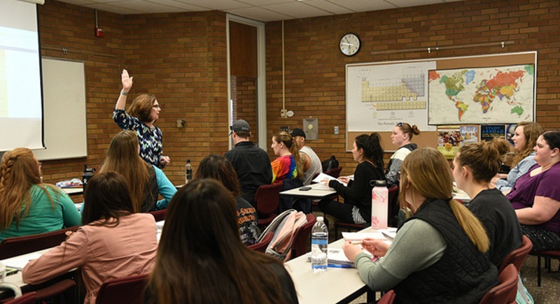 WSU Tri-Cities education adjunct professor teaches students in the education program this month.