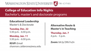 College of Education info nights