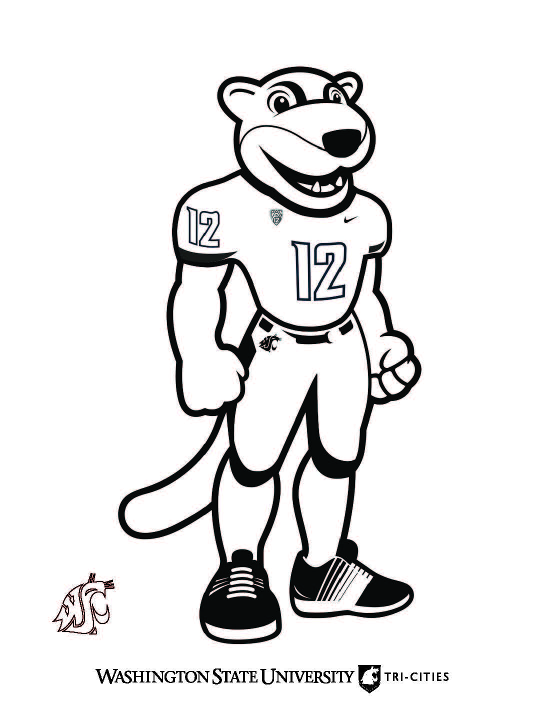 Coloring page of Butch T. Cougar.