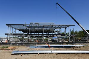Early construction on Collaboration Hall at WSU Tri-Cities