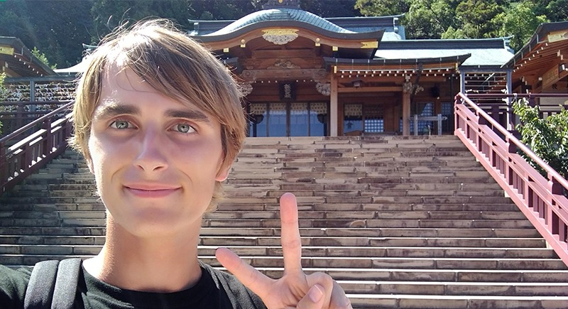 WSU Tri-Cities engineering student Anthony Michel in Japan