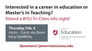 WSU Tri-Cities College of Education info night