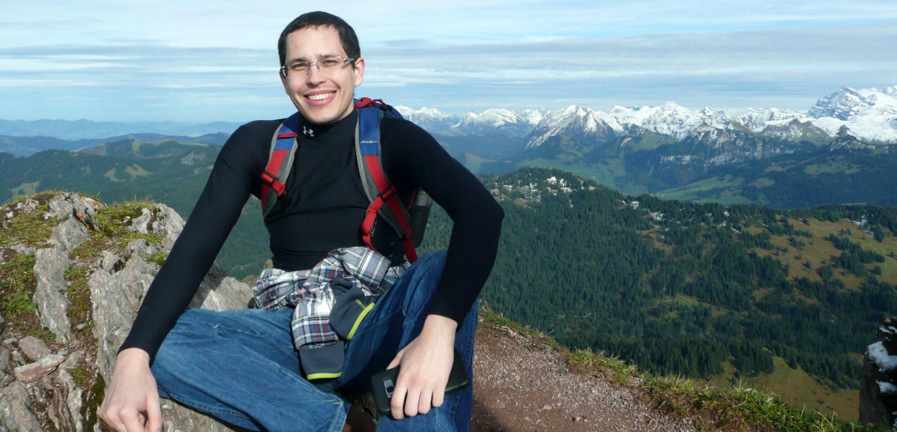 Andrew Porter in Swizterland on study abroad