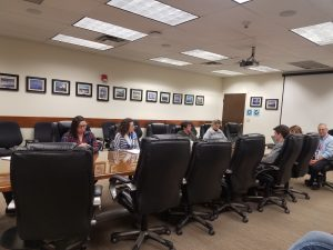 Framatome board room with students