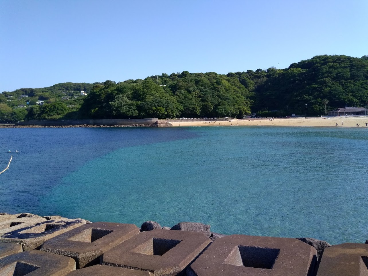 Japan beach landscape