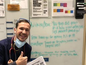 Nikita Fisenko tries to use his positivity to provide the best patient care possible while working as a registered nurse at Kadlec Regional Medical Center.