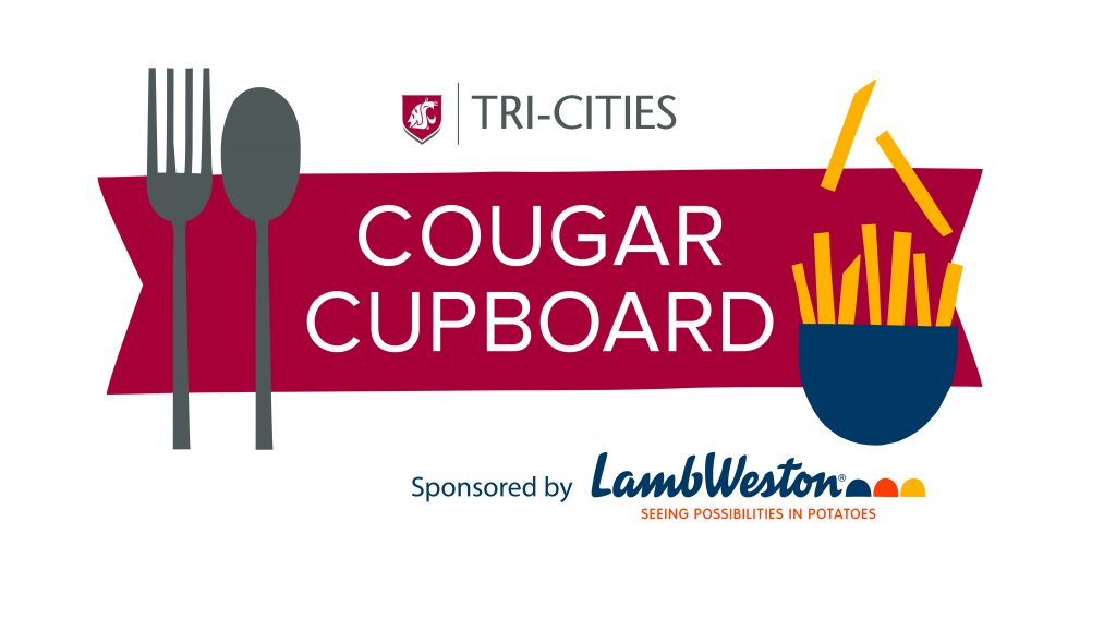 Cougar Cupboard Logo Sponsored by Lamb Weston, food bank logo