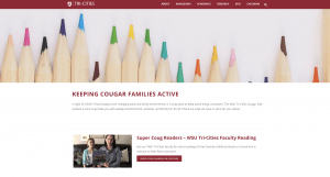 New WSU Tri-Cities Cougar Family Fun website that provides educational activities for young children and their families
