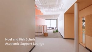 Noel and Kirk Schulz Academic Support Lounge - Digital rendering