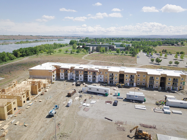 On-Campus Housing construction progress