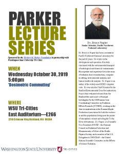 Parker Lecture Series oct 2019 - Napier