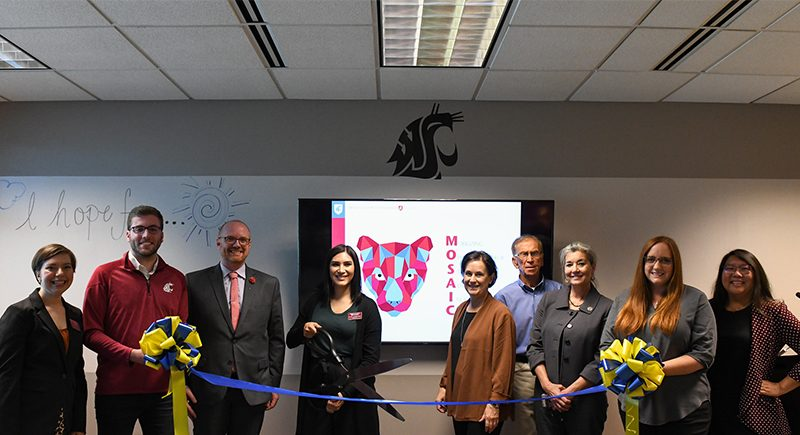 Ribbon cutting for grand opening of WSU Tri-Cities MOSAIC Center for Student Inclusion