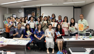 Yichien Cooper and teachers from STEAM workshop in Hong Kong