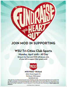 club sports fundraier MOD Pizza