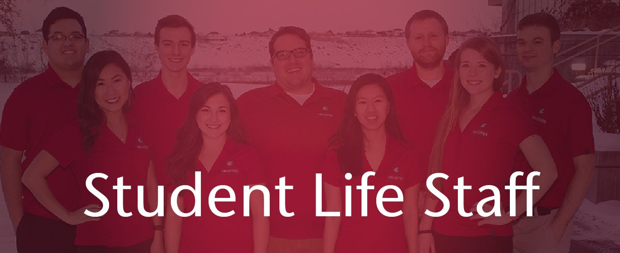 Student Life staff photo. Links to https://tricities.wsu.edu/studentlife/staff