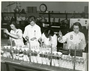 Hanford employees work in the lab out at the site.
