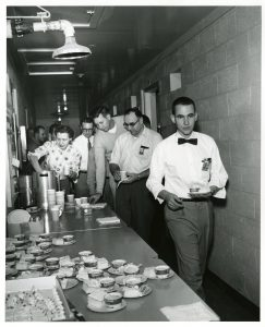 Hanford employees are treated to refreshments out at the site.