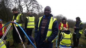 Kenny Nyirenda with UK Groundwater Project