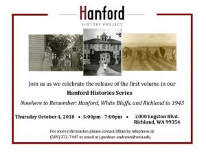 Hanford History Project Book launch